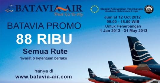 Promo Tiket Batavia Air