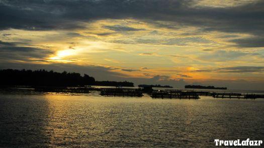 Sepotong senja di langit utara Jakarta
