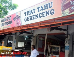Warung Tipat Tahu Gerenceng (Photo by wisatakuliner.com)