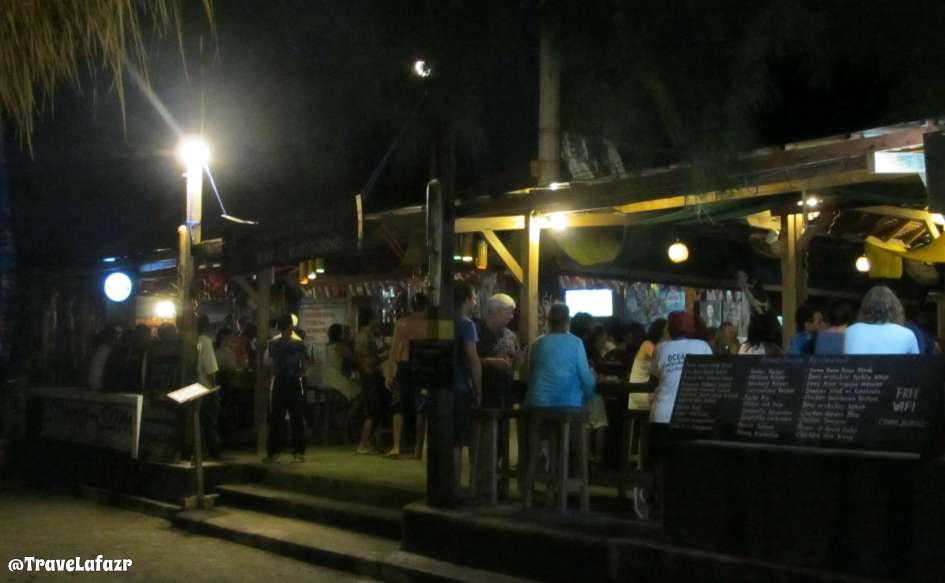 Salah satu bar di Gili Trawangan