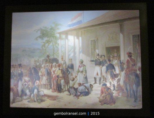 Lukisan Penyerahan Diri Diponegoro - Nicolaas Pieneman (1835)