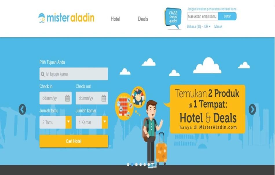 Tampilan website Mister Aladin di misteraladin.com