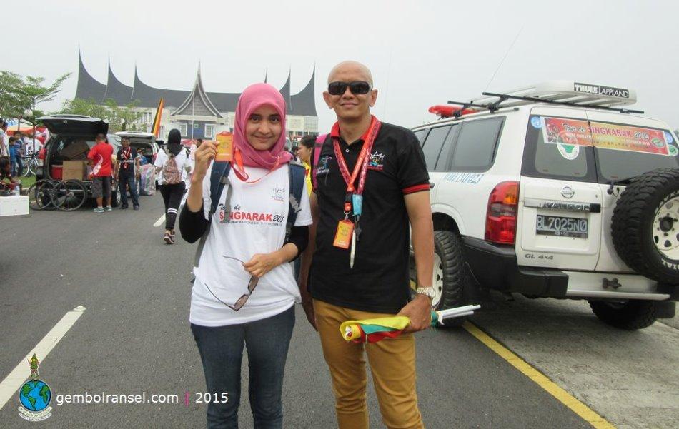 With Mr. Sondi Sampoerno, Race Director Tour de Singkarak